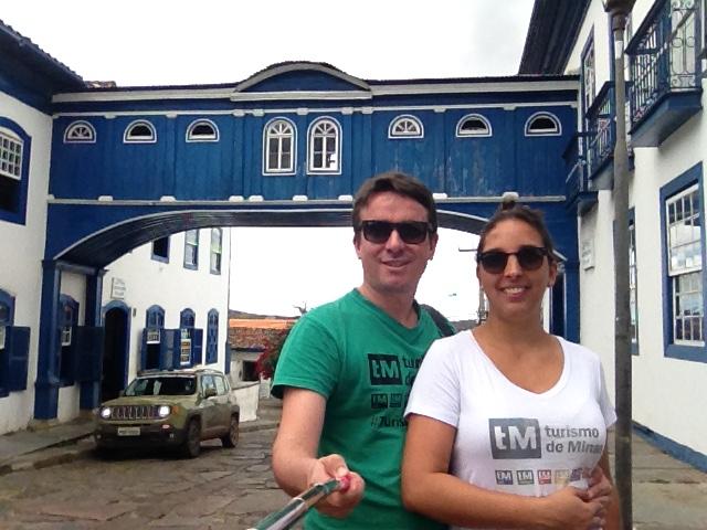 Marden e Luana em Diamantina, durante a Expedição Turismo de Minas