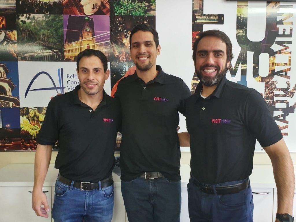Equipe da startup VisitNow: Carlos Mattos, Leandro de Sousa e Bruno Guimarães | Fotos: Marden Couto