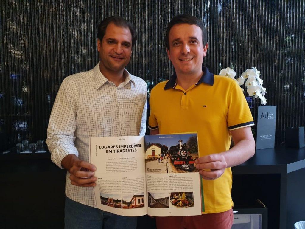 Gustavo César de Oliveira, diretor da Viver Brasil e Marden Couto, diretor do Turismo de Minas