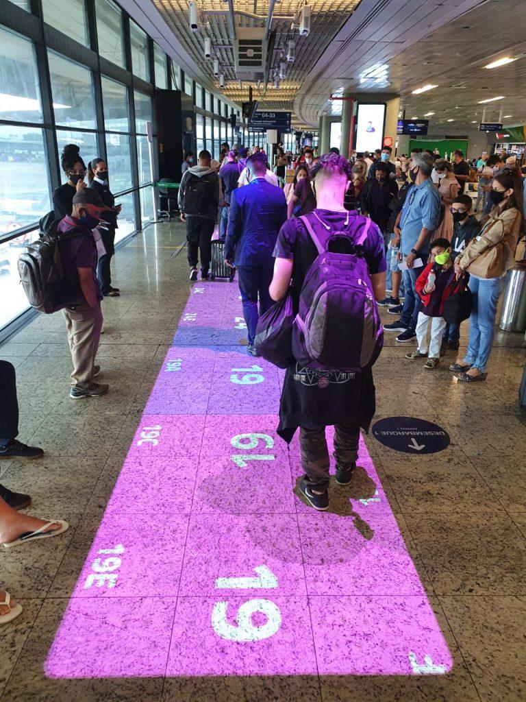 Lançaento do Tapete Azul/Rosa no Aeroporto Internacional de BH